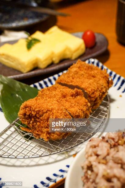 close-up of food in plate on table, shenzhen, china - yōshoku imagens e fotografias de stock