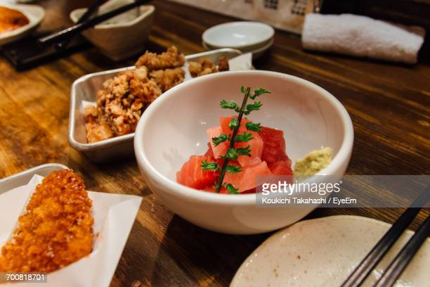 close-up of food in plate - koukichi koukichi stock photos and pictures