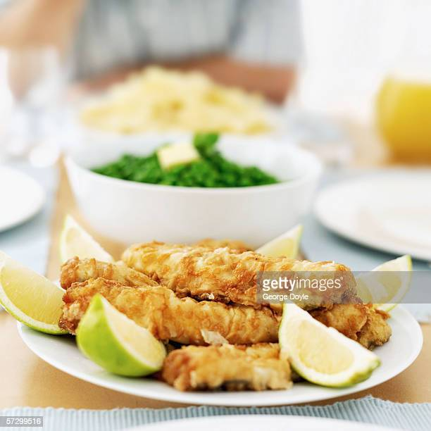 Close-up of food on a dinner table
