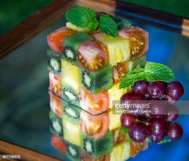 Close-Up Of Food On Glass Table