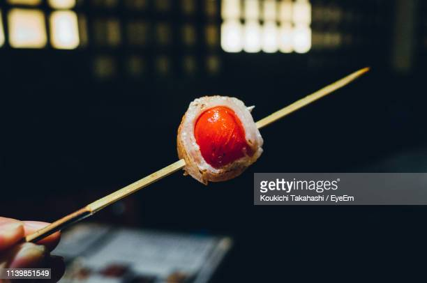 Close-Up Of Food On Stick
