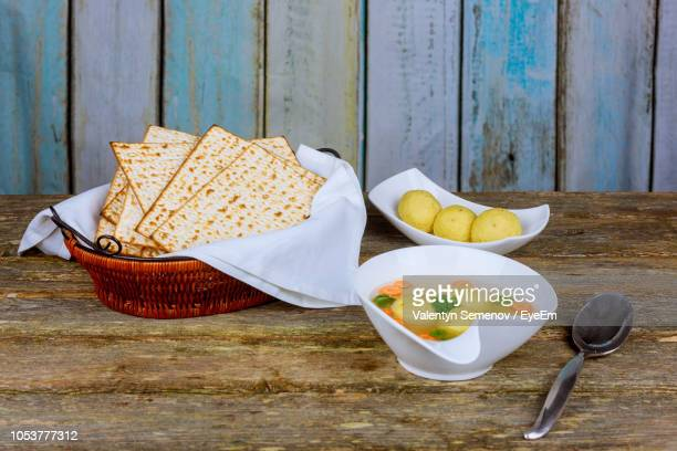close-up of food on table at home - matzah stock pictures, royalty-free photos & images