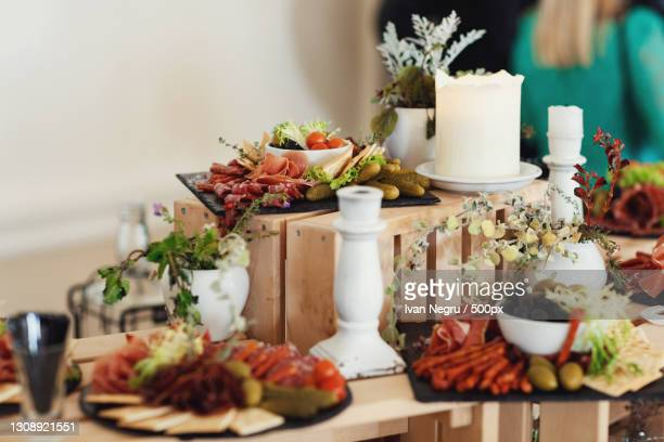 close-up of food on table - spread stock pictures, royalty-free photos & images