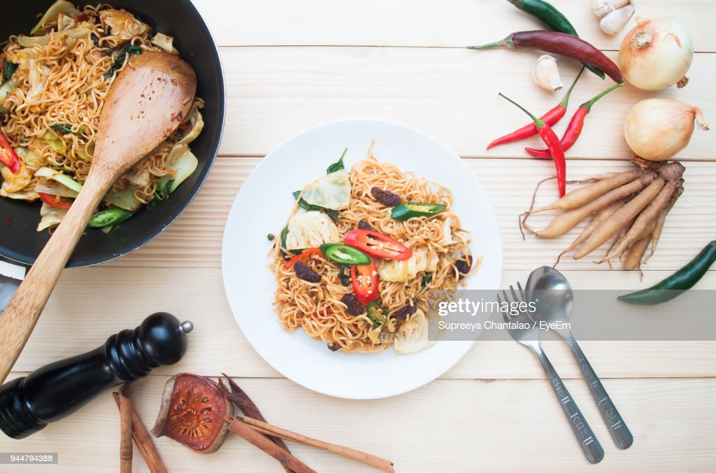 Close-Up Of Food On Table : Stock Photo