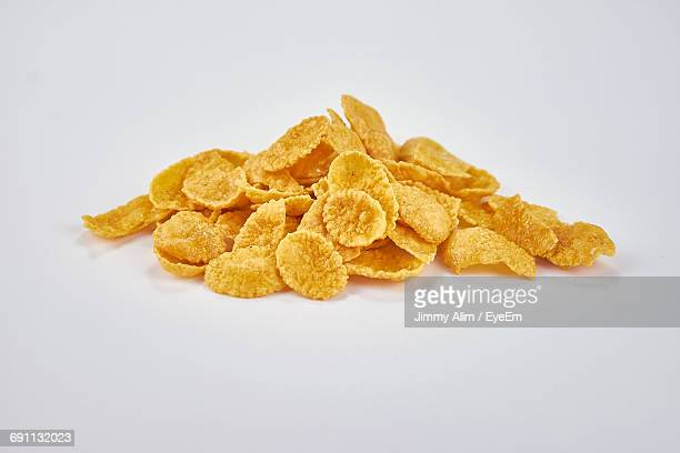 Close-Up Of Food On White Background