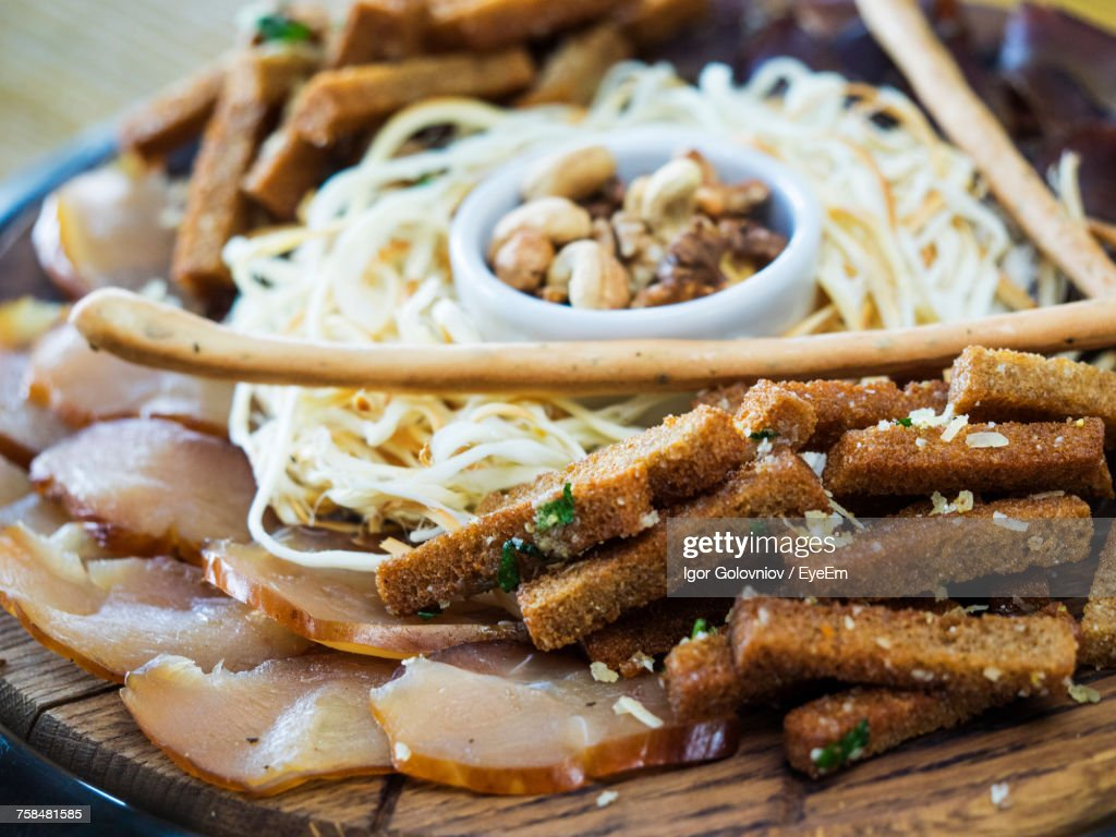 Close-Up Of Food Served In Plate : Stock Photo