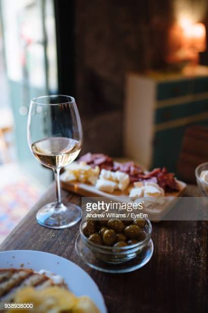 close-up of food served on table - olive fruit stock pictures, royalty-free photos & images