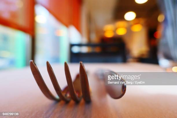 Close-Up Of Fork And Knife On Table