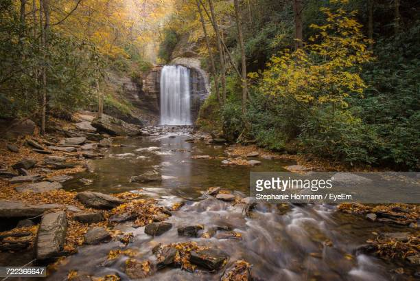 close-up of fountain against waterfall - asheville stock pictures, royalty-free photos & images