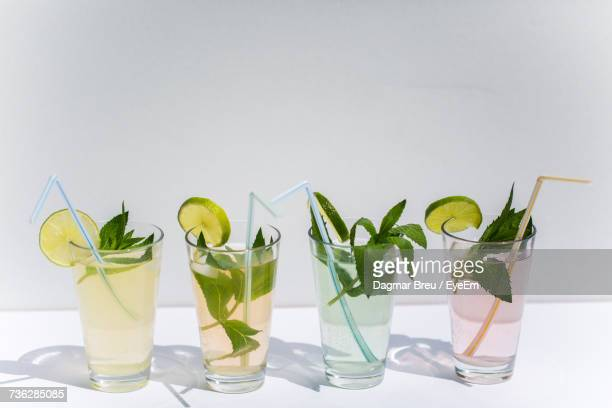 Close-Up Of Four Glasses
