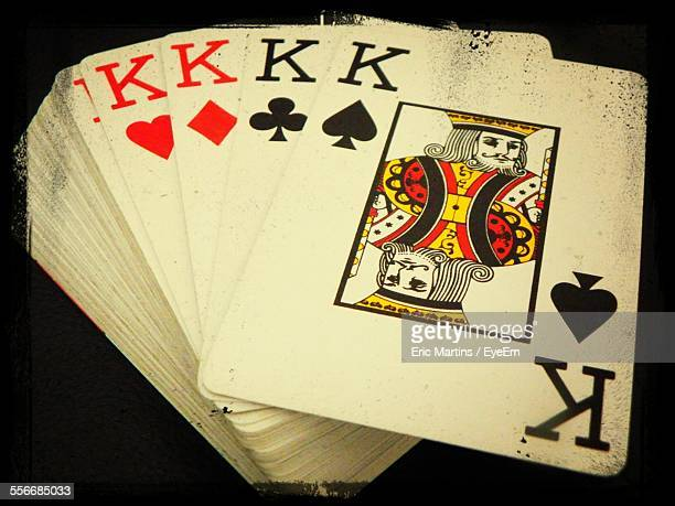 Close-Up Of Four King Cards