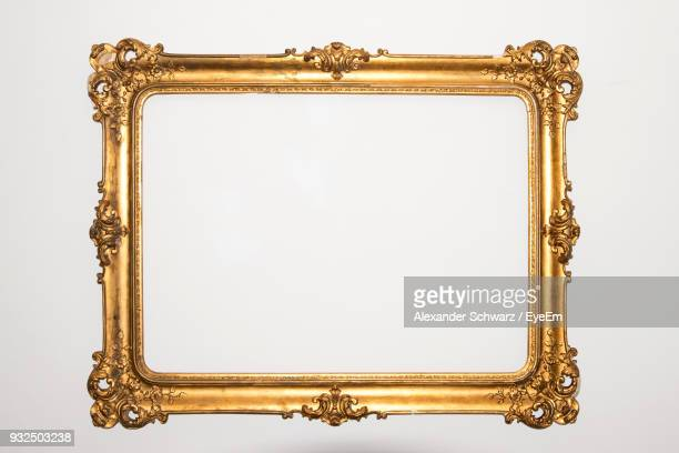 close-up of frame against white background - baroque stock pictures, royalty-free photos & images