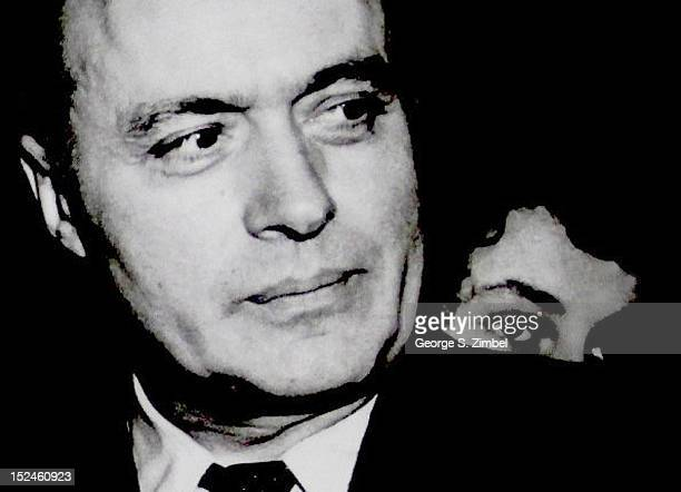 Closeup of French actor Charles Boyer 1948 The woman behind him is unidentified