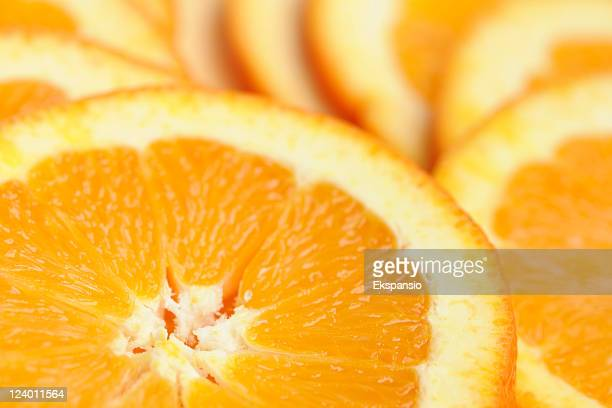 close-up of fresh and refreshing juicy organic orange slices - pith stock photos and pictures