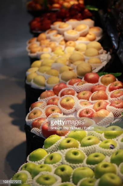 close-up of fresh apples for sale - for stock pictures, royalty-free photos & images