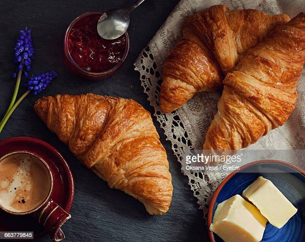 Close-Up Of Fresh Croissants