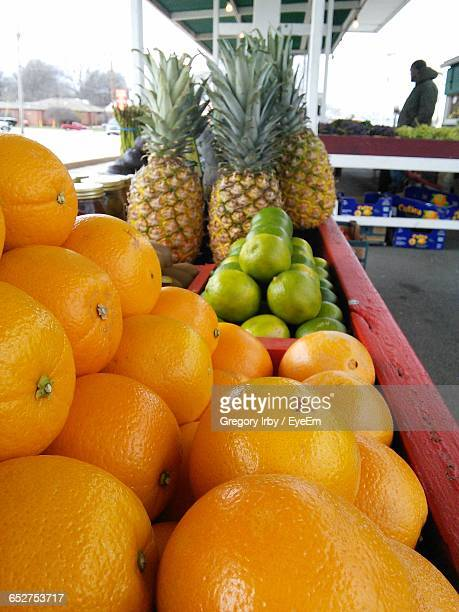 Close-Up Of Fresh Fruits In Market