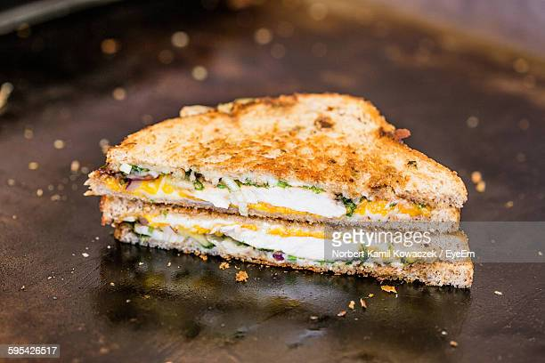 Close-Up Of Fresh Grilled Cheese Sandwich