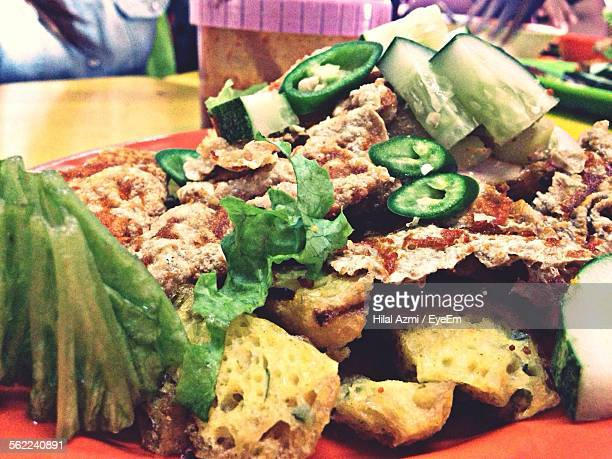 close-up of fresh rojak - hilal stock photos and pictures