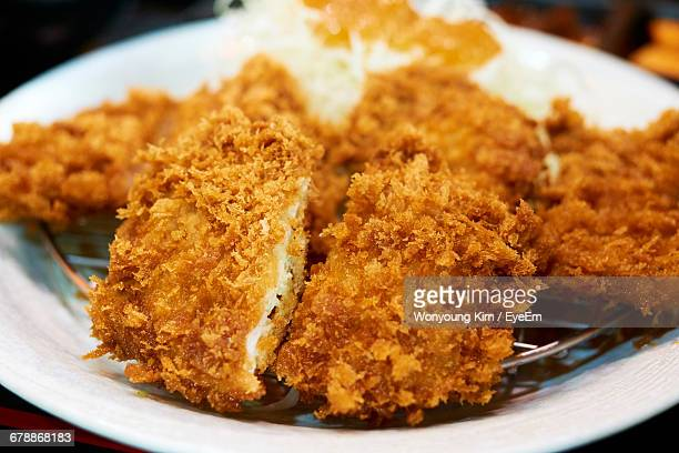 Close-Up Of Fried Chicken On Plate