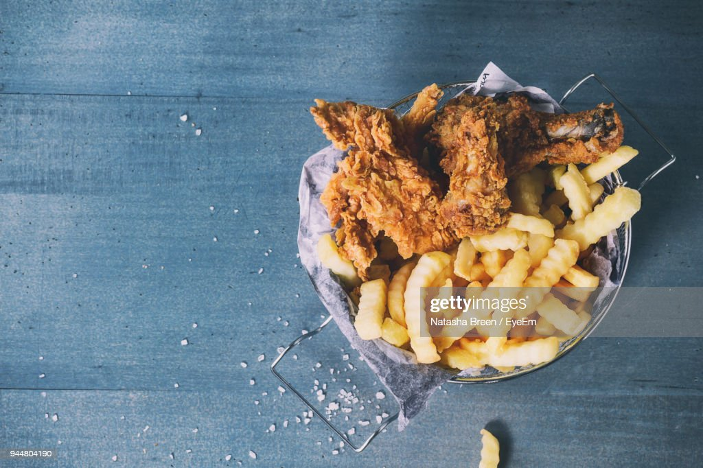 Close-Up Of Fried Food Against Door : Stock Photo