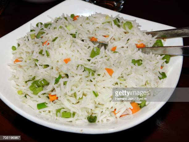 Close-Up Of Fried Rice In Plate On Table