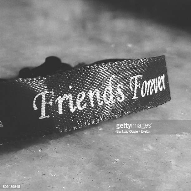 Close-Up Of Friendship Band