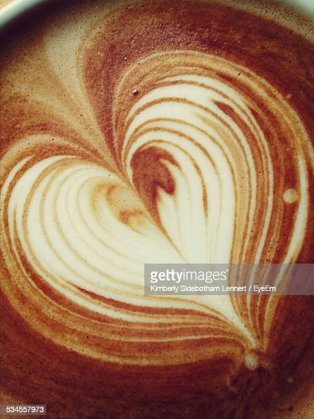 Close-Up Of Froth Art On Coffee