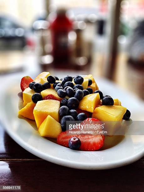 Close-Up Of Fruit Salad On Plate