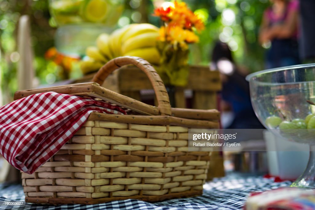 Close-Up Of Fruits In Basket For Sale : Stock Photo