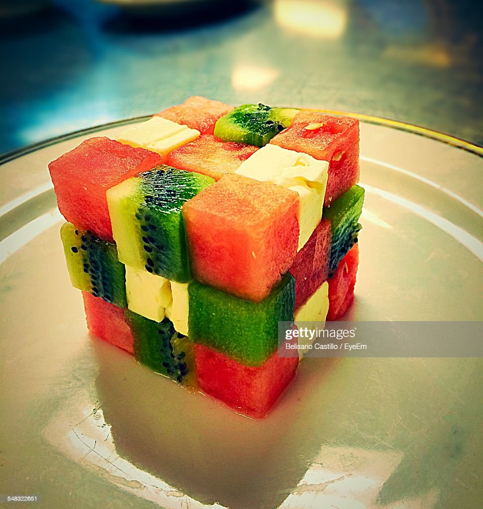 Close-Up Of Fruits In Plate : Stock Photo