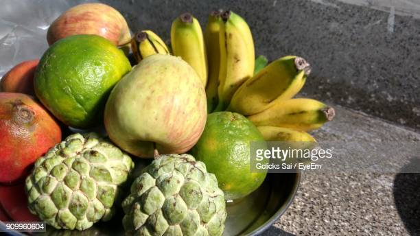 Close-Up Of Fruits In Plate