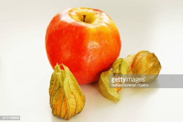 close-up of fruits over white background - gerhard schimpf stock photos and pictures