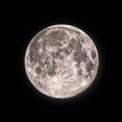 Close-Up Of Full Moon At Night - gettyimageskorea