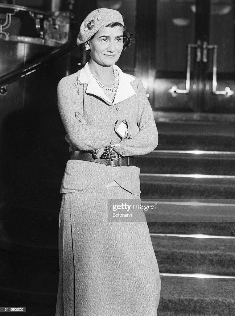Closeup of Gabrielle 'CoCo' Chanel. Photograph, 1931.