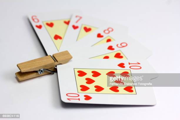Close-Up Of Gambling Cards On Table
