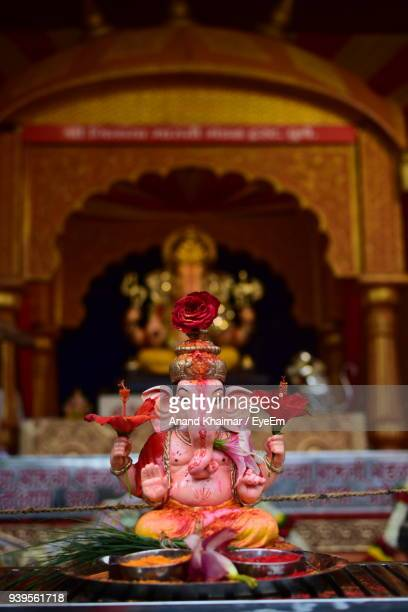 close-up of ganesha idols in temple - ganesha stock pictures, royalty-free photos & images