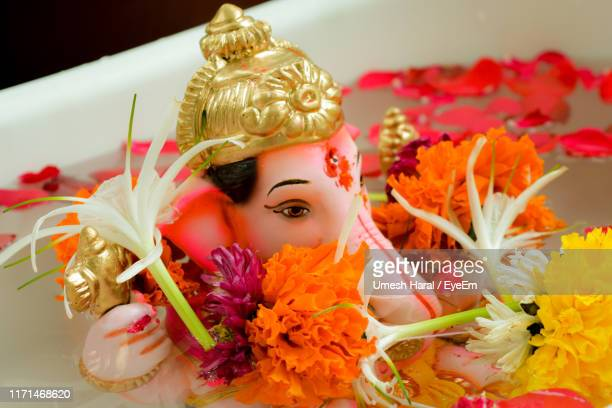 close-up of ganesha in bathtub at home - lord bath stock pictures, royalty-free photos & images