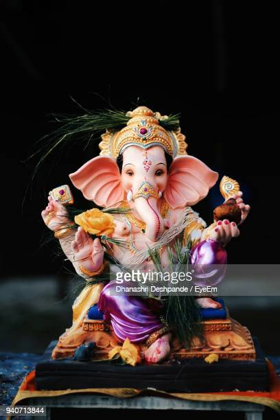 close-up of ganesha statue - ganesha stock photos and pictures