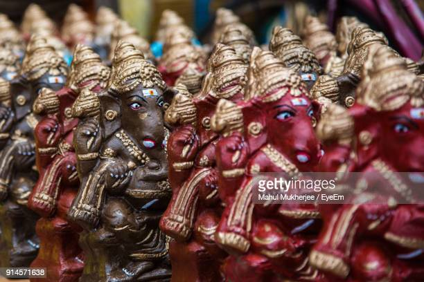 Close-Up Of Ganesha Statues