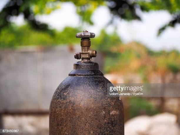 Close-Up Of Gas Cylinder