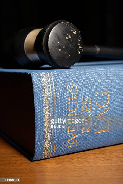close-up of gavel and book of law - sweden stock pictures, royalty-free photos & images