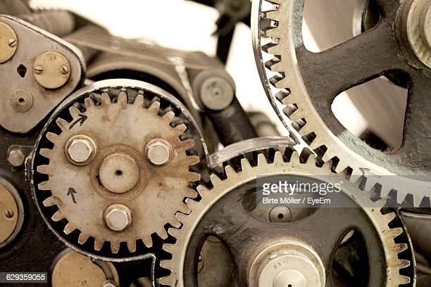 Close-Up Of Gear At Industry