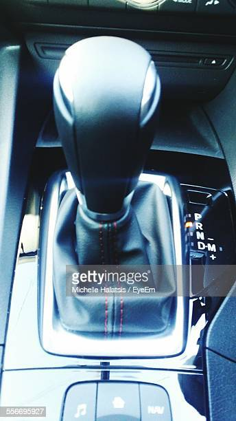 Close-Up Of Gearshift Of Car