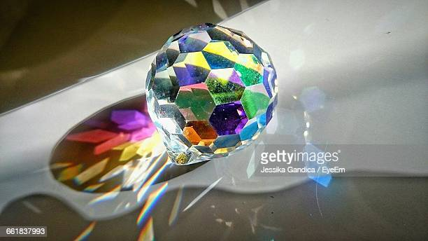 Close-Up Of Gemstone With Reflection