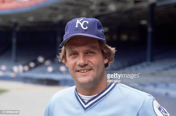 Closeup of George Brett Kansas City Royals' third baseman