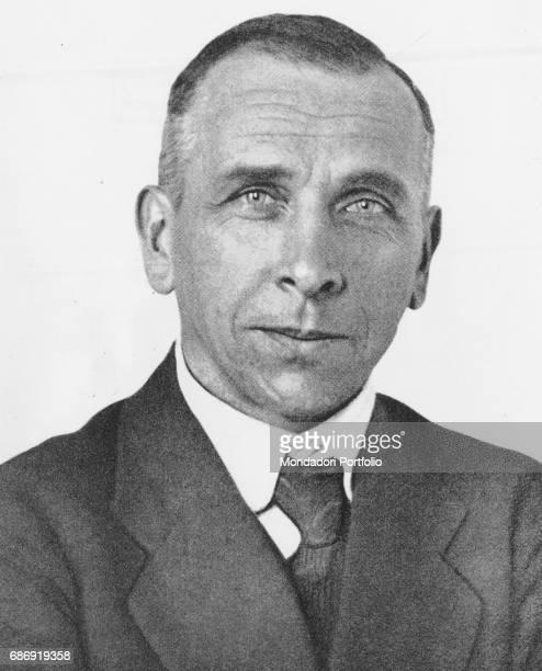 A closeup of German geologist meteorologist and explorer Alfred Wegener Germany 1920s