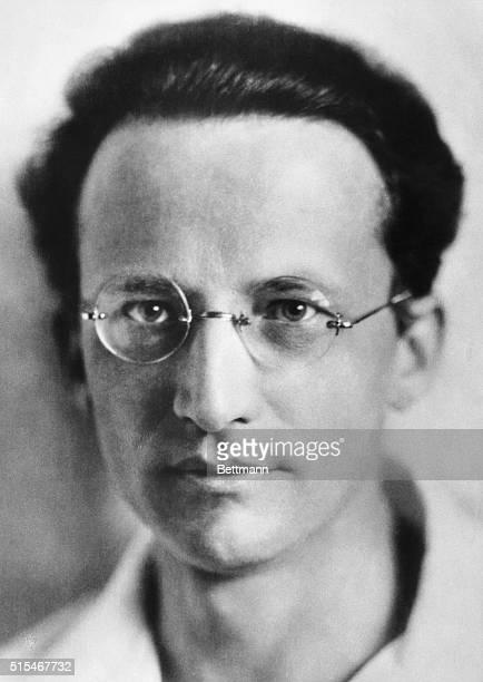 Close-up of German physicist Erwin Schrodinger Nobel Prize winner, circa 1925.