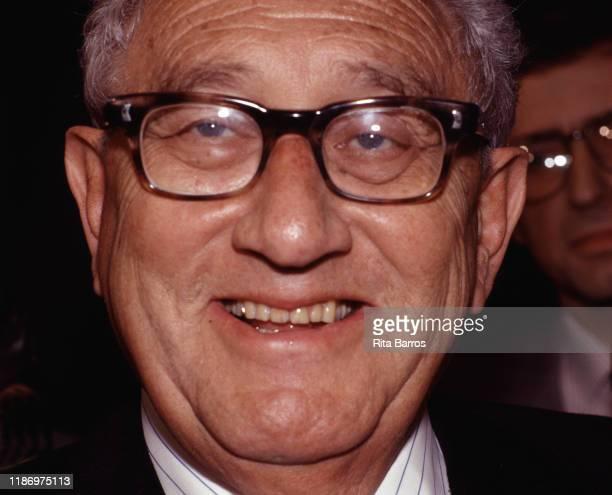 Closeup of Germanborn American diplomat and former US Secretary of State Henry Kissinger New York New York June 22 1994