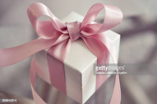 Close-Up Of Gift Box On Table